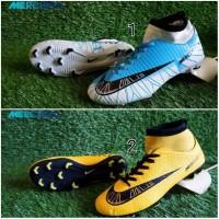 Sepatu Sepak Bola Nike Mercurial CR7 High Blue Yellow Murah Terlaris