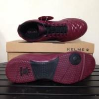 Sepatu Futsal Kelme Power Grip Maroon Black 1102130 Ori Murah