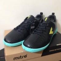 Sepatu Futsal Mitre Optimize IN Black Yellow Lite T0104 Murah