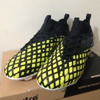 Sepatu Bola Mitre Invader FG Black City Green T01010001 Berkualitas