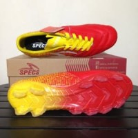 Sepatu Bola Specs Equinox FG Emperor Red Yellow 100794 Diskon
