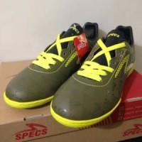 Sepatu Futsal Specs Quark IN Olive Zest Green 400778 Or Limited