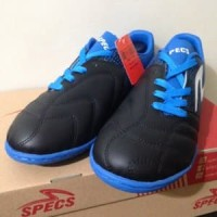 Sepatu Futsal Specs Equinox IN Black Tulip Blue 400772 Berkualitas