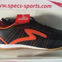 Trandy Sepatu futsal specs horus black orange 2015 original 100%
