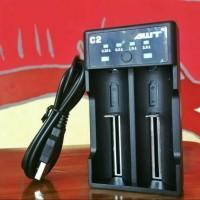Charger vape AWT C2 2A USB Battery Charger vapor 18650 AUTHENTIC