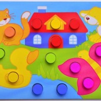 Puzzle Kayu / Matching Puzzle / Puzzle Mencocokkan Warna