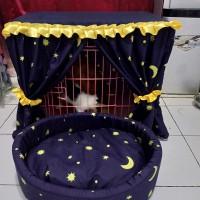 tempat tidur,tirai,kelambu,penutup kandang kucing anjing