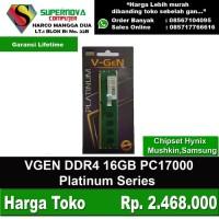 Memory RAM DDR4 16GB PC17000 Vgen Platinum