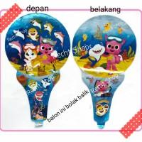 Balon tongkat balon pentungan ulang tahun karakter baby shark