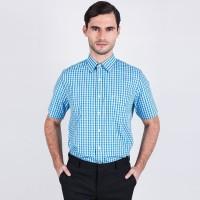 Johnwin - Regular Fit - Formal Shirt - Blue Gingham