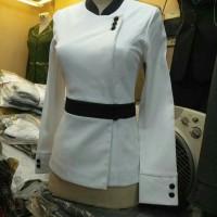 Balzer baju kerja kantor seragam kantor hitam putih baju dinas