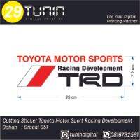 Cutting Sticker Toyota Motor Sport Racing Development TRD 25 x 7.2