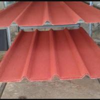 Atap zincalume spandeck pasir warna