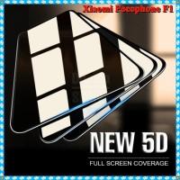 Tempered Glass 5D Xiaomi Pocophone F1 Full Glue Anti Gores Kaca Warna