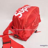 Tas Supreme Waist Bag motif Tali Waterproof - Premium Quality