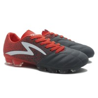Sepatu Bola Specs 100821 Equinox Fg Dark Granite Signal Red White