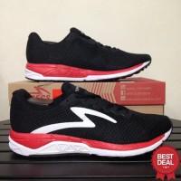 Sepatu Running Lari Specs 200550 Dual Enduro Black Emperor Red White