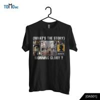 Kaos Band Original Gildan Oasis - (What's the Story) Morning Glory? - Hitam, L