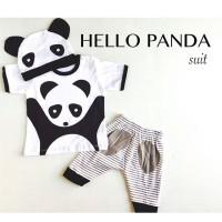 4pc@36.000 HELLO PANDA setelan anak grosir baju bayi grosir