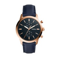 Fossil Townsman 44mm Chronograph Navy Leather FS5436