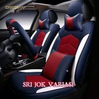 Sarung jok mobil brio rs free bantal leher dan cover setir bahan high