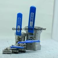 Kran / Keran Air Ball valve 2 (inch) Stainless Steel 316 SANKYO