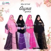 Gamis Syari Cantik Premum Elegan Motif Bunga Ayna BBH Size S