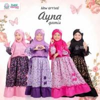 Gamis Anak Bayi Balita Syari Cantik Premium Elegan Ayna BBH Size S