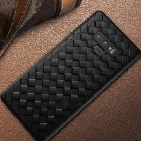 Samsung Galaxy NOTE 9 2018 Woven Leather Slim soft Case back Anyam -