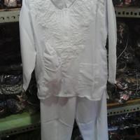 baju muslim anak cowo setelan putih bahan bagus murah