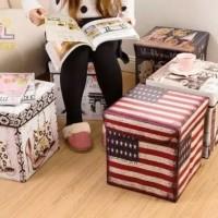 storage box/stool box/ kotak penyimpanan serba guna/bangku bahan tebal