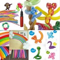 Balon Panjang / Pentil / Twist / Magic / Cacing warna Campur