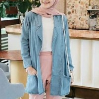 Denim jeans levis baju outer luaran blazer jas cardigan wanita muslim