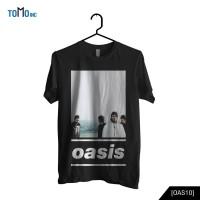 Oasis - Live Forever Kaos Band Original Gildan - Hitam, XS