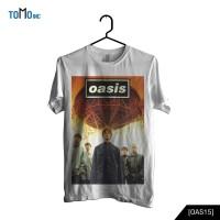 Oasis - Stand By Me Kaos Band Original Gildan - Putih, XS