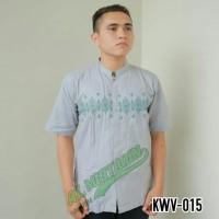 Baju Muslim Pria Baju Koko Pasar Tasik Tanah Abang Jakarta KWV 015 - Perak, M