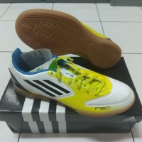 Sepatu Futsal Adidas F5 Adizero Micouch White Yellow Original