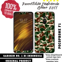 Garskin Skin Xiaomi Pocophone F1 Bape Army style for back case