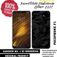 Garskin Skin Xiaomi Pocophone F1 Black camo army for back case