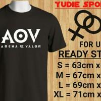 Kaos AOV arena of valor - Hitam, S