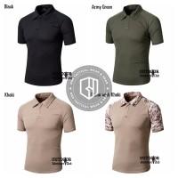 Kaos Polo Berkerah Coolmax Tactical Combat Shirt With Velcro Quick Dry