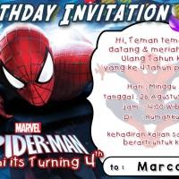 Kartu undangan Ulang Tahun spiderman