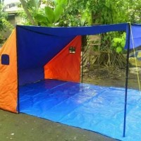 Tenda dapur ukuran 3m x 3m x 1.6m bahan dakota / parasut metalik/wp
