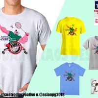 Kaos Baju Asian Para Games Cabang Olahraga Badminton Bulu Tangkis - 13