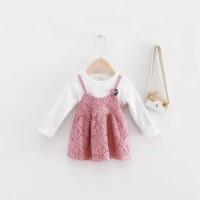 Baju Anak Perempuan Lace Flower G0003 Pink - Size L