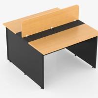 meja kantor modera partisi 2 orang 100cm