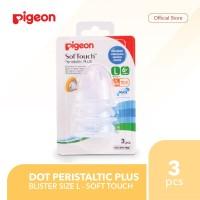 PIGEON Dot Peristaltic Plus 3 Blister L - Soft Touch | Dot Bayi