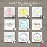 Stiker Sticker logo thank card shopping toko kartu ucapan online shop