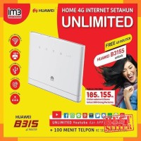 Router Modem Wifi 4G Huawei B315 UNLOCK Free Indosat UNLIMITED 1 Tahun