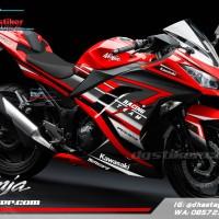 Stiker Decal Ninja 250 fi Merah Racing Team
